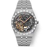erkek otomatik mekanik saat erkek saatler dalgıç Spor çeliğin kayışı 15.407 erkek safir cam içi boş kol saati 5tm ggünee izle