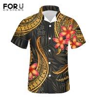 Camicie da spiaggia Estate per uomo Camisas Para Hombre Poly Samoa Stampato a manica corta Bottone Giù Hawaiian Casual
