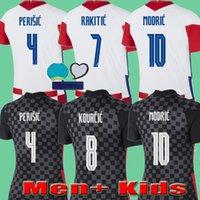 Croatia 2020 Croacia EURO CUP الرجال + الاطفال Croazia كرة القدم بالقميص 20 21 maillots دي القدم Croatie مودريتش بيريسيتش راكيتيتش MANDZUKIC KOVACIC KITS الموحدة
