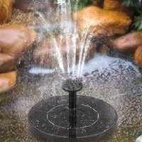 Solar Powered Floating Bird Bath Water Panel Fountain Pump For Garden Pond Pool And Outdoor Decorations