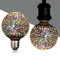 3D الديكور أدى ضوء لمبة مع e26 قاعدة الألعاب النارية الكرة لمبات خيوط للمنزل بار حزب (G95) Crestech
