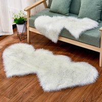 Piece Colorful Area Rug Warm Carpets For Living Room Cute Hear Shape Foot Mat Fluffy Bedroom Decor Soft Home Doormat