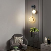 Modern Golden Metal LED Wall Lamp Nordic Style Bedside Sconce Creative Light For TV Background Aisle El