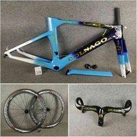 T1100 UD Blue Colnago Concept Disc Car Carbon Road Cadres de guidon 50mm Disque Bicyclette Bicyclette