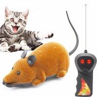 Cat Toys Pet Беспроводная дистанционного управления Мышь Домашние животные Игрушки Интерактивные Плюшевые Электронные Увелики RC WAT MICE Смешная собака для