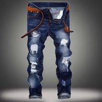 Evjsuse Brand original Jeans Droits Homme Slender Jeans Personnalité Snor Effet Hommes Digner Digisseur Digroded Jeans déchirés