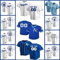 Kansas City 16 Andrew Benintendi Royals Jersey 41 Carlos Santana 1 Nicky Lopez Özel 17 Hunter Dozer Whit Merrifield Beyzbol George Brett