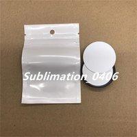Süblimasyon Parmak Telefon Standı Boş Alüminyum Disk Ve Yapıştırıcı Için DIY Özelleştirilmiş Cep Telefonu Tutucu Braketi Için