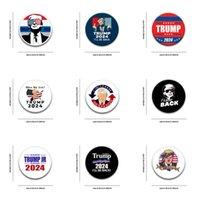 NUEVO 2.28 pulgadas 58mm Donald Trump 2024 Volveré Botones Botón Botón Botón Botón Bolsa Medalla Ropa Decoración América Presidente Elección Supplie G860YWR
