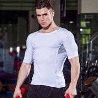 T-shirts de compression Hommes T-shirt T-shirt Gym T-shirt T-shirt Formation Tee Sport Tshirt Hommes Sportswear Top Jersey de basketball