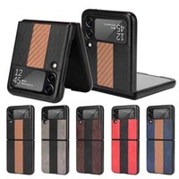 Suitable for Samsung 3 case Galaxy Z flip 3 5g protective cover splicing carbon fiber leather pattern
