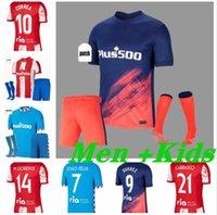 Joao Felix Atletico Suarez Madrid Soccer Jerseys 2021 2022 Saul Camisetas 20 21 22 Llorente Correa Football Hemd Herren Kids Kit Set Uniform Socken Hosen Shorts