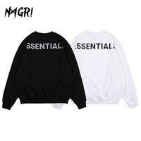 Nagri Mode Lettre de réflexion Imprimer Hommes Sweat-shirt Essentials Pull Sweats à capuche occasionnelle Hip Hop Hop Couleur à manches longues à manches longues