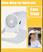 Dropshipping New Arrival Hand Free Solar Powered Fan Air Cooler Hat Sport Outdoor Fan Hats with Fan for Adults Gift