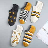 5pairs lot Women Socks Print Harajuku Street Style Cotton Short Socks Female Casual Funny Ankle Yellow Socks Sox Summer 2021
