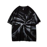 GennaioNow Nero Paisley Tie Dye Hip Hop T-Shirt Uomo Donne Summer Streetwear Tshirt Tshirt TSHIRT TEE SHIRTS PER UOMINI