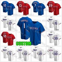 1 Elvis Andrus Jersey 12 Rougged Odor 13 Joey Gallo 15 Nick Solak Texas 17 Shin-soo Choo 34 Nolan Ryan Rangers Jerseys de béisbol 2021