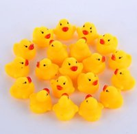 Party Favor Fashion Bath Water Duck Toy Baby Small DuckToy Mini Yellow Rubber Ducks Children Swimming Beach Gifts SN2500