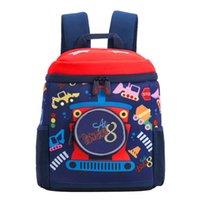 Childrens Traction Rope Backpack 3-7 Years Old Car Lollipop Anti-lost Small School Bag Kindergarten Men and Women Treasure