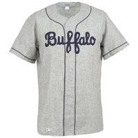 Buffalo Bisons 1959 Straße Jersey 100% genähte Stickerei Vintage Baseball-Trikots Individuell beliebiger Name Jede Nummer