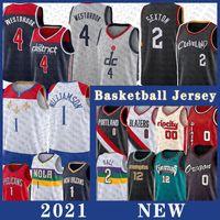 2021 Mens Collin 2 Sexton Russell 4 Westbrook Basketball Jersey JA 12 Morant 시온 1 Williamson Damian 0 Lillard Jerseys Lonzo 2 볼 Carmelo 00 Anthony Stitched