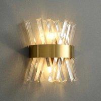 침대 옆 욕실 거울 계단에 대 한 LED 벽 램프 거실 장식 포스트 모던 인테리어 조명 유리 벽 sconce 210724