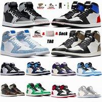 1 أحذية كرة السلة عالية 1s Shadow 2.0 جامعة زرقاء هايبر رويال كورت أرجواني غامق موكا Jumpman أحذية رياضية للرجال منخفضة UNC تويست للسيدات أحذية رياضية