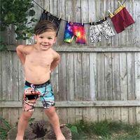 Summer Boys Lettres Imprimé Sous-robe Boxers Kids Boîtes Saimwears Beach Voyages En plein air Brendy Briefs Enfants Maillot De Maillot De bain H7301