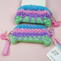 Game Controllers Push Fidget Toy Sensory Autism Special Needs Anxiety Stress Reliever for Office Fluorescen Coin Purse-TOPN925