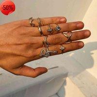 مجوهرات متعددة العنصر مزيج خاتم الدائري النسائية بسيطة ثعبان شكل مطعمة الماس المشتركة مجموعة