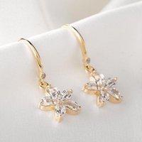 Dangle & Chandelier European And American Classic Exquisite Flower Earrings, Female Shape Pendant Five-leaf Ear Hooks