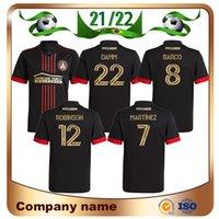 21/22 mls Atlanta United FC Soccer Jerseys 2021 Lejos de Maillots de Foot Martínez Barco Robinson Damm Camiseta de Fútbol