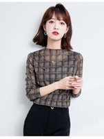 Lace Women's Tops 2021 Autumn New Lace Printed T-shirt Long Sleeve Render Shirt Fashion Casual Tees