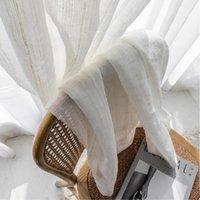 Японские европейские натуральные льняные шторы сплошной цвет хлопчатобумажные изделия из тюля обработка кортинас для гостиной спальня занавески