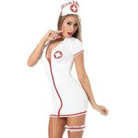 Naughty Nurse Costume Sexy Lingerie Lingerie Sexy Hot Erotic Nurse Cosplay Costume Adult Sex Womens Sexy Porno Dresses Role Play Y19070302