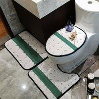 Lujoso Diseñador Baño de 3 piezas Conjunto de 3 piezas Baño Mat y Aseo Alfombra Agua Absorbente de Agua Antickido Esteras