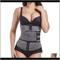 Support Womens Bodyshaper Workout Sweat Belt Ladies Firm Waist Trainer Neoprene Fitness Button Girdle Corset Trimmer Vest 6Ncra Bpcak