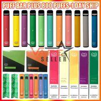 Puf Çubuğu Artı Tek Kullanımlık Vape Pen E Sigara Cihazı Güvenlik Kodu ile 550 mAh Pil 3.2ml Pods Ön Doldurulmuş Kartuşlar 800 + Puff Pufbar Kit