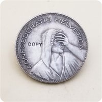 Hobo Nickel Coin 1950B and 1965B Switzerland 5 Francs copy coins commemorative coins collectibles