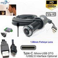 Geniuspy 1.66mm Fisheye Lens Kapı HD Kamera Göz Görüntüleyici Peephole 1080 P 2MP 720 P OTG Tip-C Ücretsiz Sürücü Geniş Açı USB Web Cam IP Kameralar