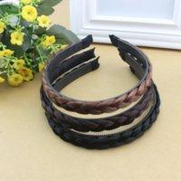 gmz 2 yuan loja jóias coreano moda versátil peruca trança plástica torção cabeças trançado cabelo torcido faixa de cabelo headband