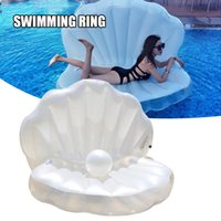 Life Vest & Buoy 2021 Swimming Pool Float Shell Shaped Inflatable Island Creative Summer Raft Lounge For Adults Kids NOV99