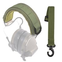 Tactical Accessories Modular Headset Cover Molle Headband Military Earphone Microphone Protection Case Hunting Earmuff Headphone Stand Strap