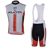 Kuota Team Cykel Ärmlös Jersey (Bib) Maillot Shorts Sets Pro Clothing Mountain Andas Racing Sport Cykel Mjuk hudvänlig kan blandas 42437