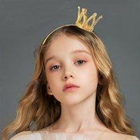 Saç Klipler Barrettes Moda Takı Küçük Kız Tiara Kafa Altın Renk Kadınlar için Sevimli Kristal Taç Hairbands Bantlar