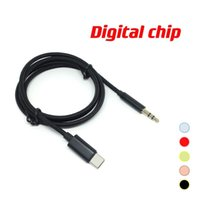 Digital chip Type-C USB Cables Male To 3.5mm jack Earphone Car Stereo AUX audio Cable Cord Adapter For moblie phone