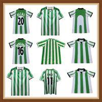 95 97 98 98 Retro Soccer Jerseys 1995 Real Betis Match indossato Menendez Finidi 25 Rios 21 Football Maillot de Piede