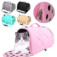 Dog Car Seat Covers Foldable Pet Cat Carrier Shoulder Bag Handbag Outdoor Cage Travel Transport Mesh Carrying Bags