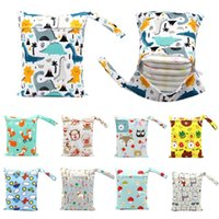 Small Size Diaper Baby Bag Hanging Nappy Stroller Storage Babys Nappys Reusable Washable Cloth Waterproof Diapers Portable Handbag ZYY904