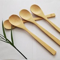Cucchiaio da cucina Cucchiaio in legno Ecofriendly Giappone Stoviglie Bamboo Cucchiai di bambù Caffè Miele Tea Lavle Stirrer DinnerWare ScoopZC268